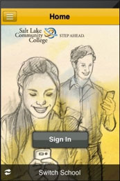 Sign in screen of SLCC's new mobile app.