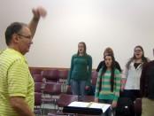 SLCC Chorus leader Lyle Archibald