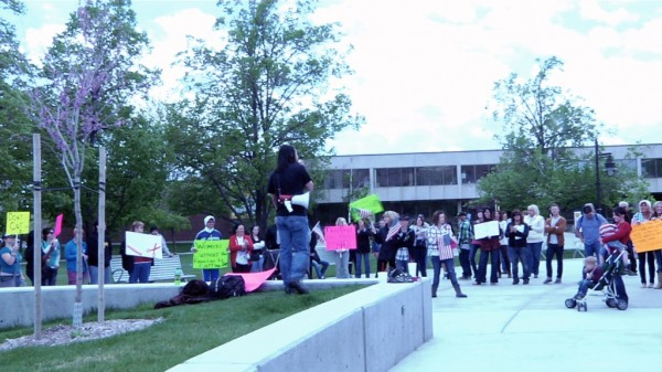Protesting cosmetology cuts