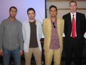 From left to right: Ahmed Adel, Mohanad Mossalam, Moaz Mahoud, and David Hursey.
