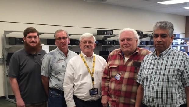 From left to right: Nathan Fyffe, Brett Wheelock, Herb Davis, Ron Whiteman, Gabino Chacon-Escarcega.
