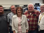 From left to right: Nathan Fyffe, Brett Wheelock, Kathy Himle, Ron Whiteman, Herb Davis