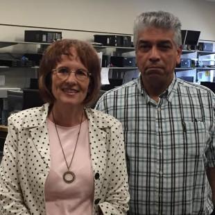 Kathy Himle, left, and Gabino Chacon-Escarcega