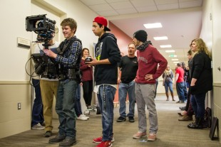 Students use a steady cam