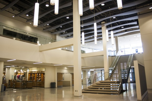 Center for New Media foyer with bookstore