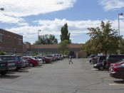 Cars fill South City Campus parking lot