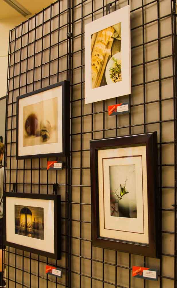 A wall of photograhy