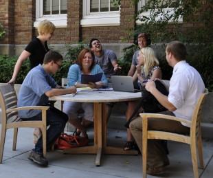 SLCC students socializing