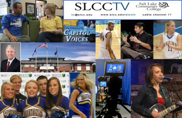 SLCC TV collage showing highlights from their programming.