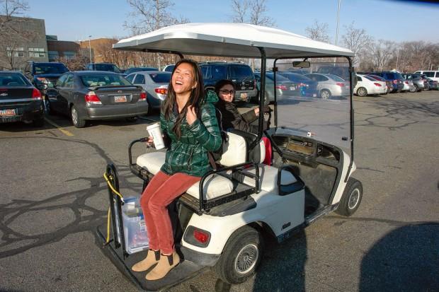Miley Nguyen rides the Cash Cart