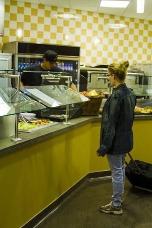 Patron visits South City Campus food court