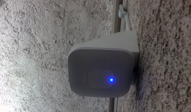 Side view of old router