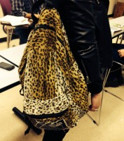 Cheetah pattern backpack