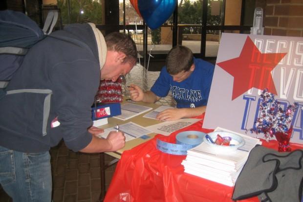 Brayden Christlieb registers to vote