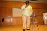 Ron Funches at the mic