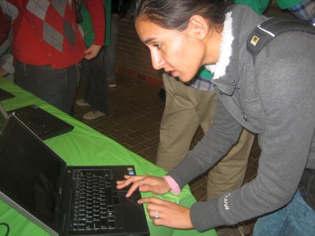 Jackie Bedoya registers for OrgSync