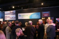 People networking at the Hub at Sundance