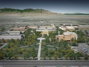 Artistic rendering of the Taylorsville Redwood Campus after demolition of the Administration building.