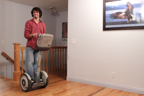 Timothy Janssen's personal Segway for transportation at home and around campus.