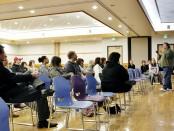 Jonathan Stowers speaks at the transgender forum