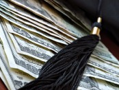 Tassel on top of money
