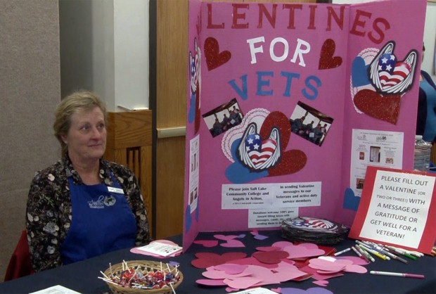 Diane Bates at Valentines for Vets booth