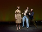 Stephanie Purcell, Dave Hanson and Jonathan McBride act in 'Voice on the Prairie'