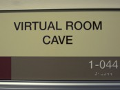 Virtual room cave sign