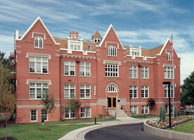 Westminster College's Converse Hall as viewed from the east.