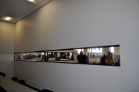 View from classroom into lobby