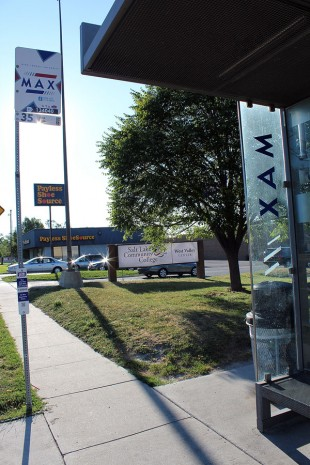 3500 South UTA MAX bus stop