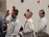 USU students dressed in lab coats