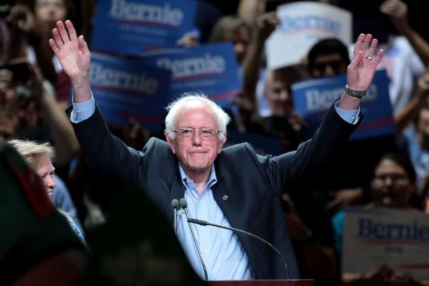 Bernie Sanders at podium