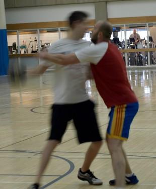 Handball players Vlad Gramma and Andree Tabenko