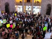 Protestors opposing HB 363