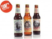 Three bottles of Craft Artisan Sodas showing off three of the product line's flavors