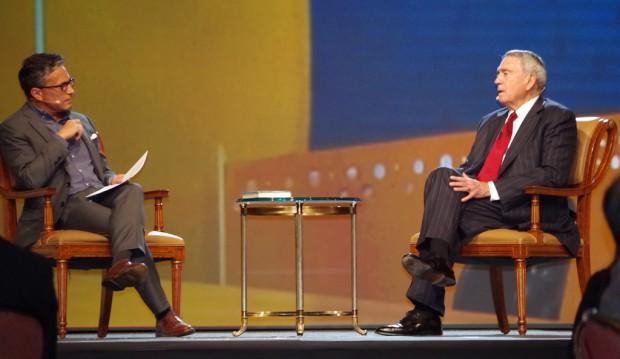Doug Fabrizio interviewing Dan Rather