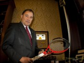 The tennis racket he played with against Andre Agassi-Autographed