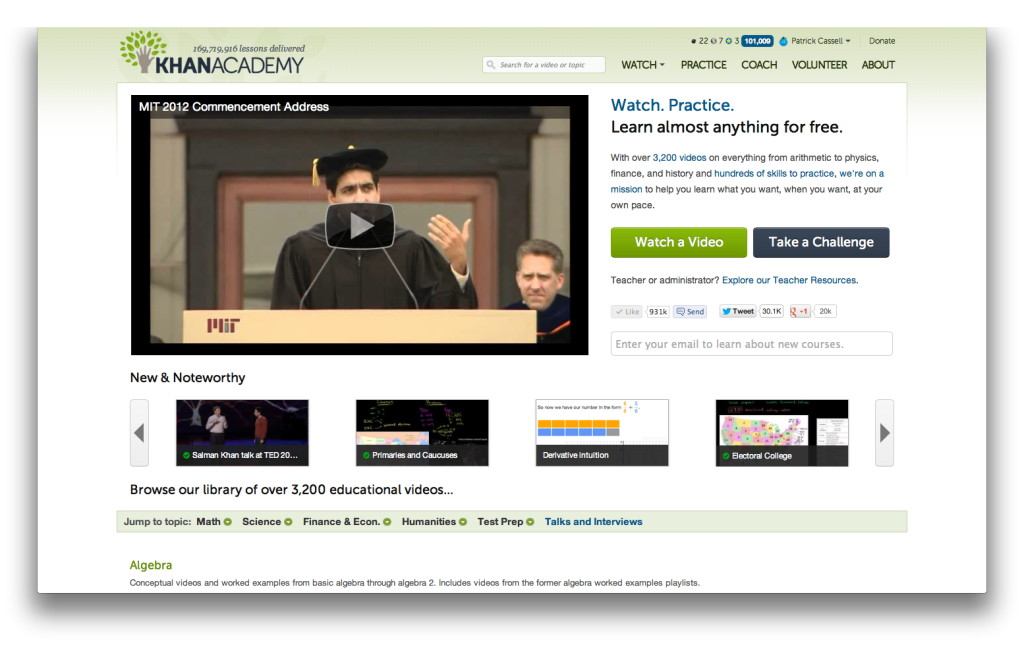 The math of Khan: Khan Academy offers pressure-free online tutoring ...