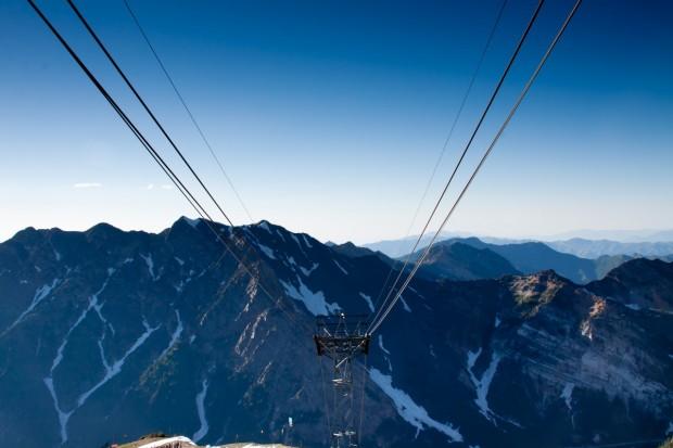 Snowbird tram view