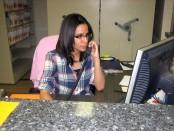 Sharon Palma on the phone
