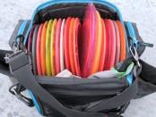 Bag full of golf discs