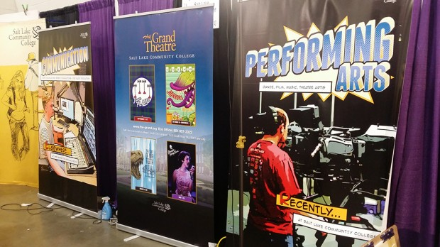 Posters that hung at the SLCC Booth at Salt Lake Comic Con 2014