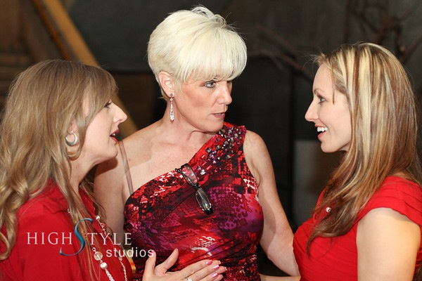 Rene Johnson (left) and Founder Celeste Greave talk with May Shero Rebecca Musser