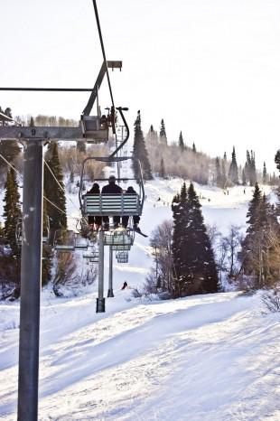 Chair lift at a ski resort