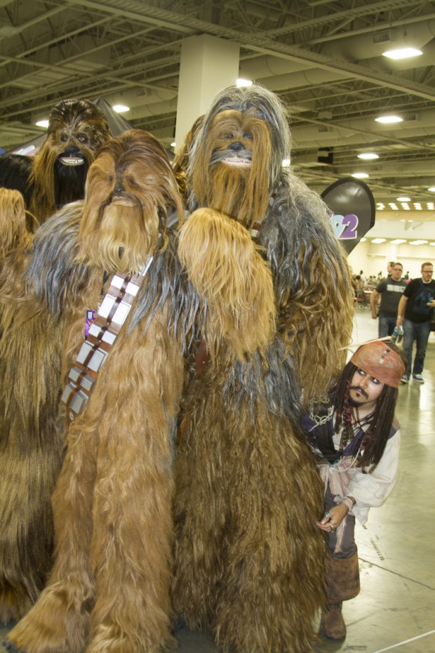 Jack Sparrow and Chewbaccas