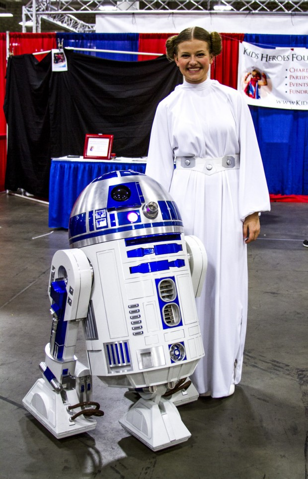 Princess Leah and R2-D2
