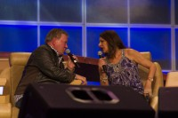 William Shatner, left, and Marina Sirtis