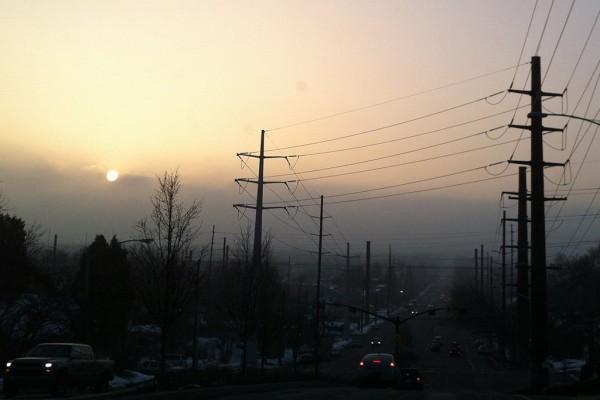 Hazy Salt Lake Valley