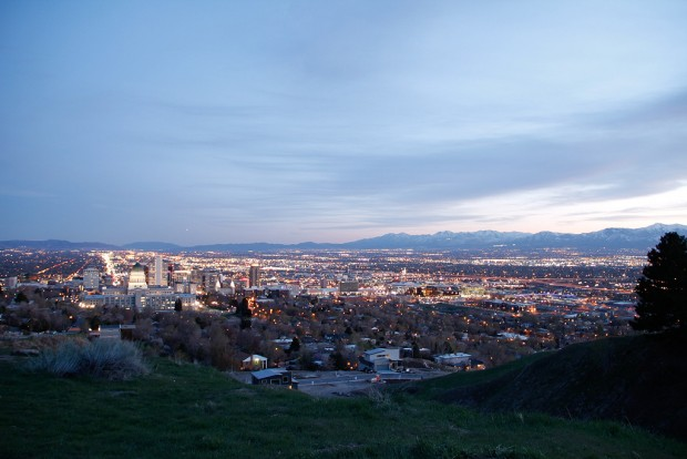 Overlooking the Salt Lake Valley